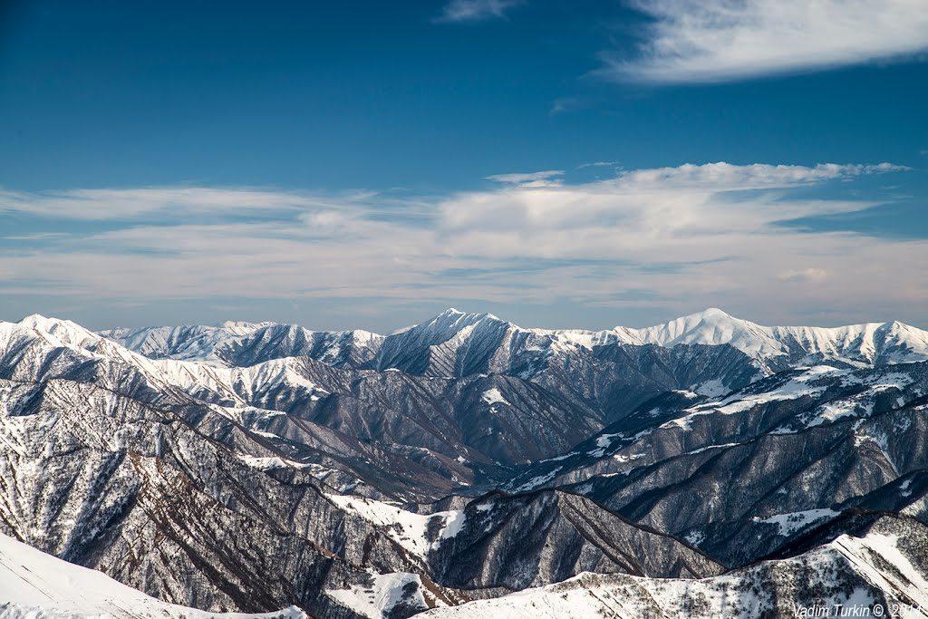 вершины Гудаури 1024x683 - Топ-3: идеи горнолыжного отдыха !