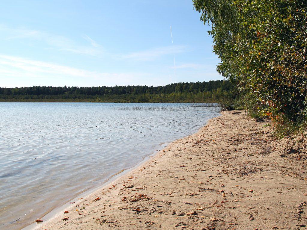 белый песок озеро белое