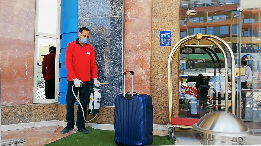 отдых в египте обработка багажа